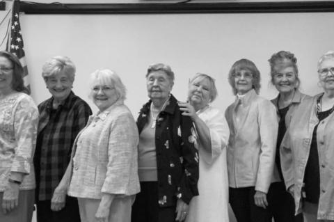 Colonial Dames XVII Century officers installed
