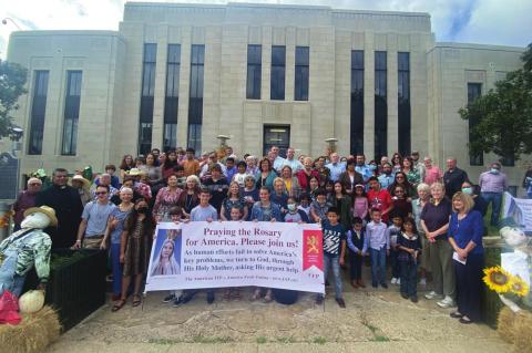 Public square rosary rally held Oct. 10