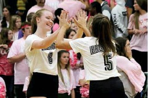 Eaglettes wrap round one of district