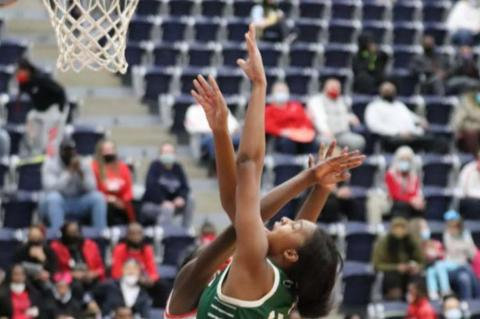 Eaglettes power into second round, 53-40