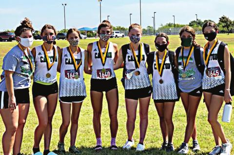 Eaglettes take first at Kaufman Meet