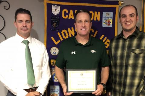 Hubble speaks to Canton Lions Club